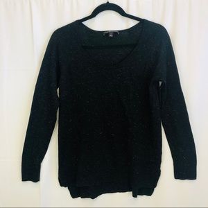 Rock and Republic black and silver knit sweater M
